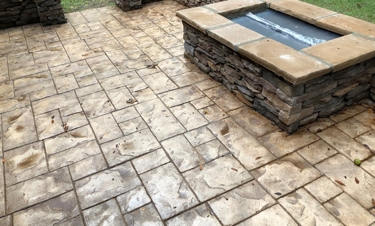pictures of stamped concrete patios