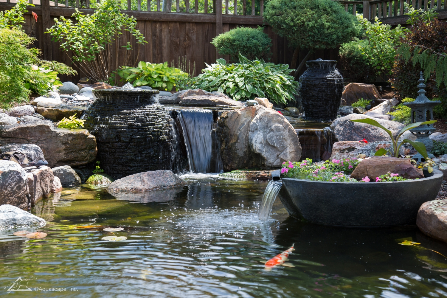 Waterfall-pump-in-garden