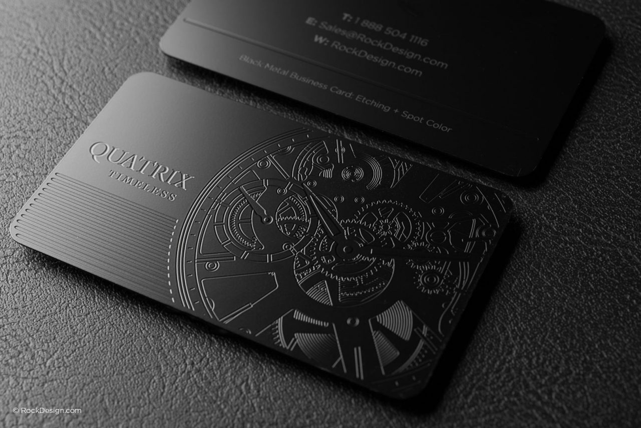 metal business cards with qr code
